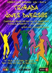 Cartell de la convocatoria a la Trobada Joves divers@s