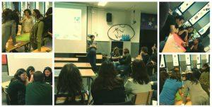 Una de les sessions del procès de formació i acompanyament als monitors i monitores de menjador de l'escola