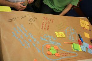 A la formació en mediació i gestió de conflictes es van realitzar diferrents sessions.