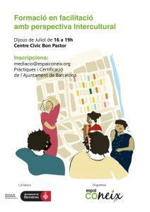 Cartell de la formació en facilitació amb perspectiva intercultural