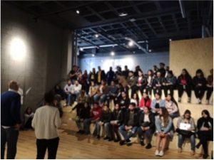 """Moment de la presentació del projecte de dinamització comunitària """"Coneix La Màquina"""""""