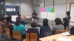 Un dels moments de la dinamització realitzada a la Universitat de Valencia.