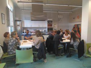 Moment de treball a la primera jornada de participació del colectiu FANJAC