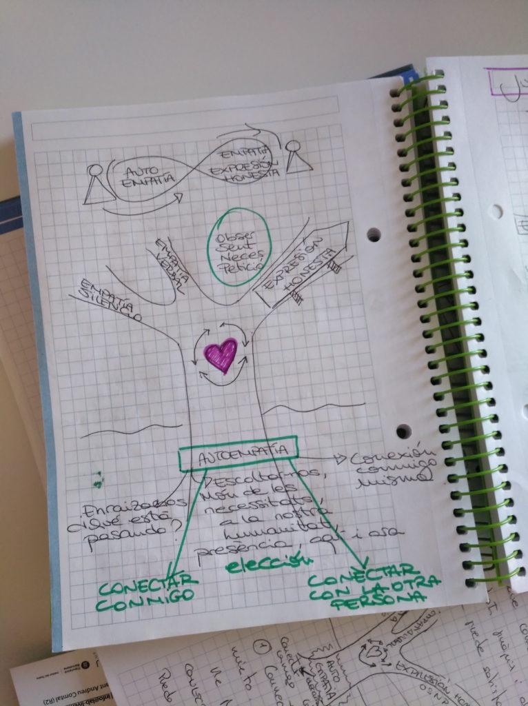 Aquest són alguns dels elements que aprenem a la formació en Comuniciació No Violenta